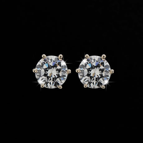 Fashion Jewelry 5mm 6mm 8mm 925 Sterling Silver Aaa Cubic Zirconia Earrings Clic Cz Crystal Stud Earring For Men And Women In From