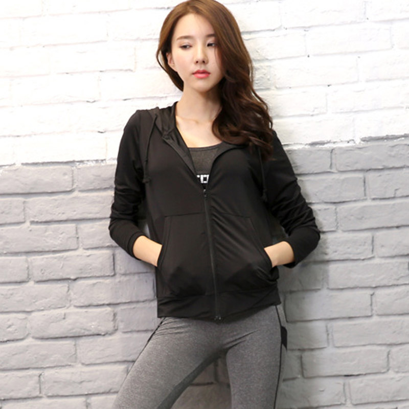 Ladies black yoga jacket