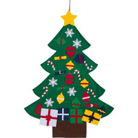 Kids DIY Felt Christmas Tree With Ornaments Children Gifts For 2018 New Year Door Wall Hanging