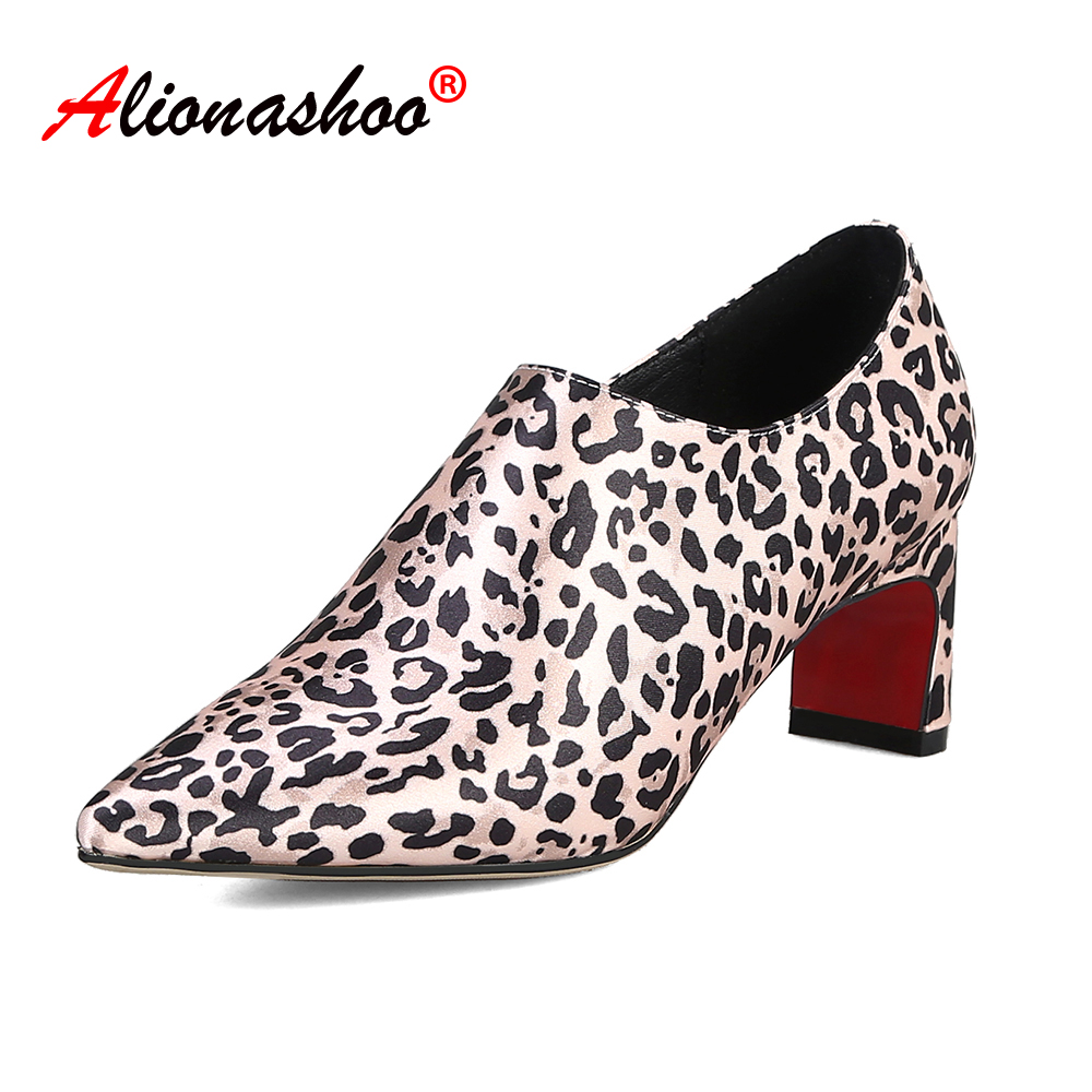 Italian Luxury <font><b>Shoes</b></font> Woman 2019 Leopard Snake Printing Fashion Ladies Pumps <font><b>Sexy</b></font> Women High Heels Wedding <font><b>Shoes</b></font> Big <font><b>Size</b></font> <font><b>11</b></font> image