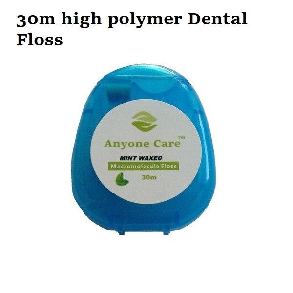 Высокое качество зубная нить мята Вощеная плоская нить расширяющаяся нить нейлон тонкие Зубы Чистая Ортодонтическая зубная нить - Цвет: M30