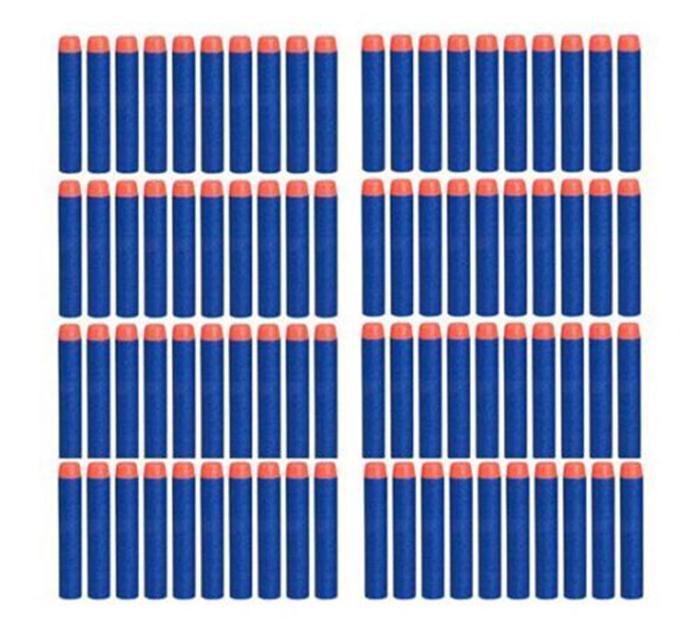 100pcs/set For Nerf Gun Toy  Elite Rampage Retaliator Series Blasters Refill Clip Darts Toy Gun Soft Bullet