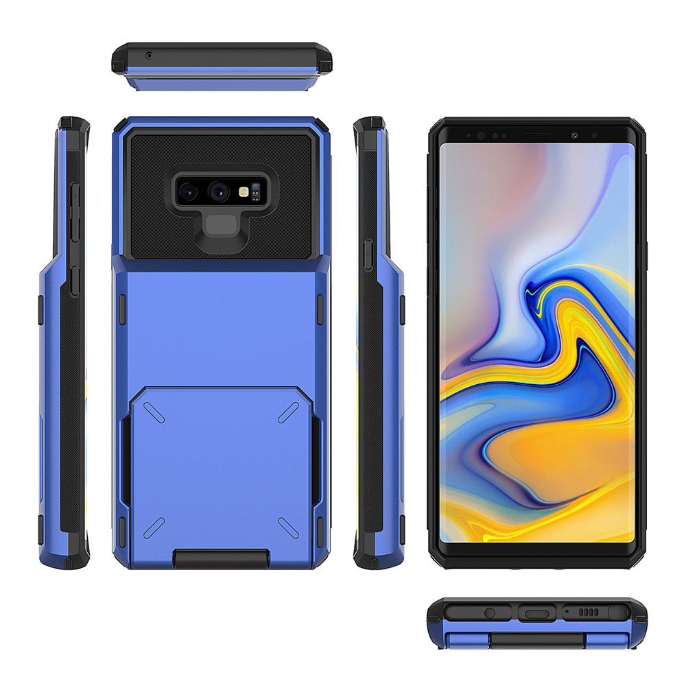 Card Slots Wallet Case For Samsung Galaxy S10 A7 2018 A750 S8 S9 Business Case For Samsung A750 A7 2018 S10 S9 Plus Note 9 Cover