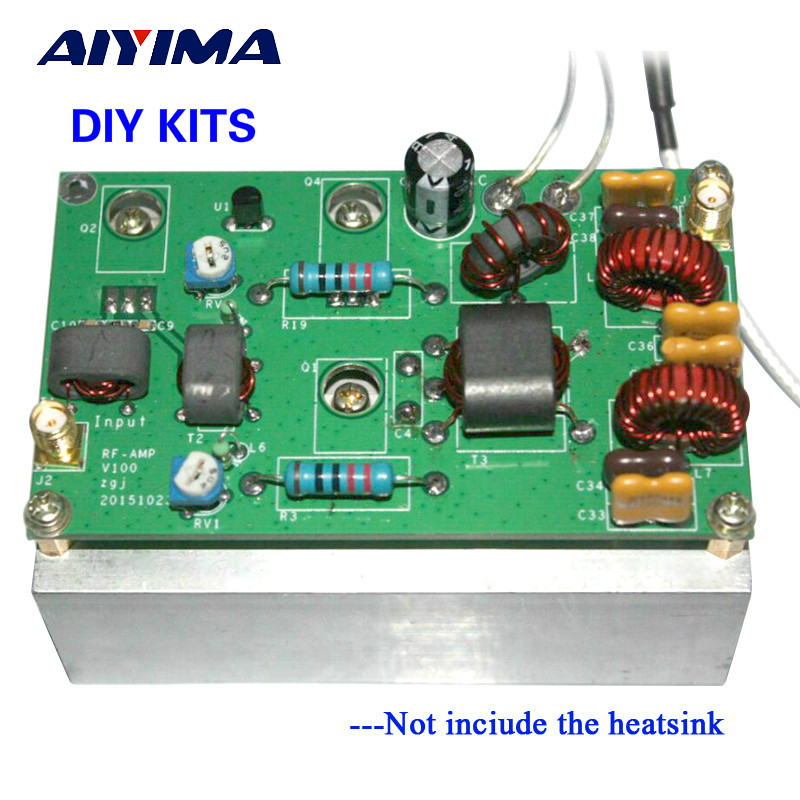 Aiyima New 45W SSB linear Power Amplifier Kits With low-pass filter for transceiver Radio HF FM CW HAM aiyima 42db 1mhz 800mhz 433mhz rf uvf linear power amplifier hf fm