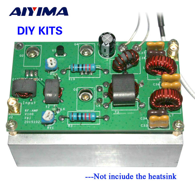 US $21 64  Aiyima New 45W SSB linear Power Amplifier Kits With low pass  filter for transceiver Radio HF FM CW HAM-in Amplifier from Consumer