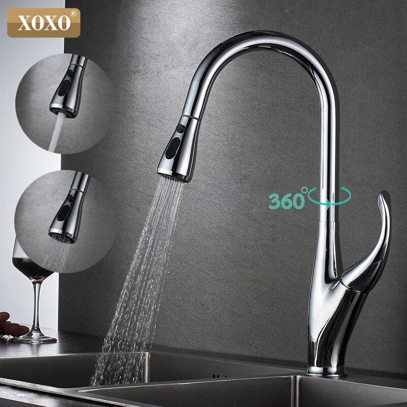 XOXO cuisine robinet mitigeur pulvérisation tirer vers le bas évier robinet cuisine haut de gamme marque conception chaude et froide 83036C