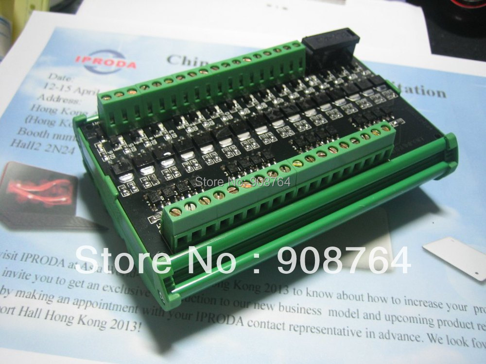 16 channel 8A OptoCoupler isolated amplifier Board for PLC output board terminal station relay motor controller electronic transistor relay 16 channel dc amplifier circuit board