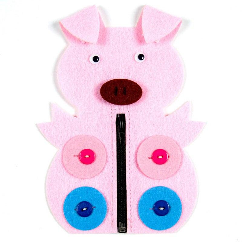 1pc Hand Zipper Button Teaching Kindergarten Manual Diy Weave Cloth Early  Education Toys Montessori Teaching Aids Math Toys #5