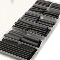240 Pcs Black Polyolefin 2 1 3 1 Halogen Free Heat Shrink Tubing Tube Sleeving Kits