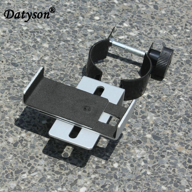 Datyson 1.25 atau 2.0 inci Metal Universal Telescopes Fotografi kurungan gunung Untuk telefon bimbit Adapter penyambung 5P0074