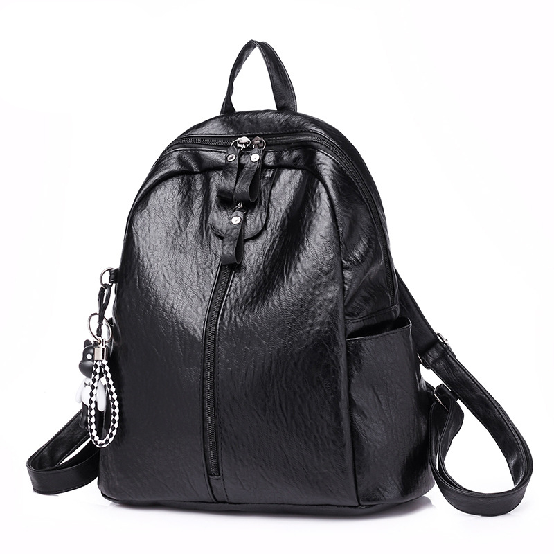 2018 New Woman Fashion PU Leather Backpack Multifunction Simple Female High capacity High quality Back pack