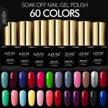Лазурный красоты 7 мл Гель-лак Гели для ногтей Краски 60 великолепные Цвета Azure Гели для ногтей Клей УФ гель Лаки Soak Off Hybrid лак Эмаль