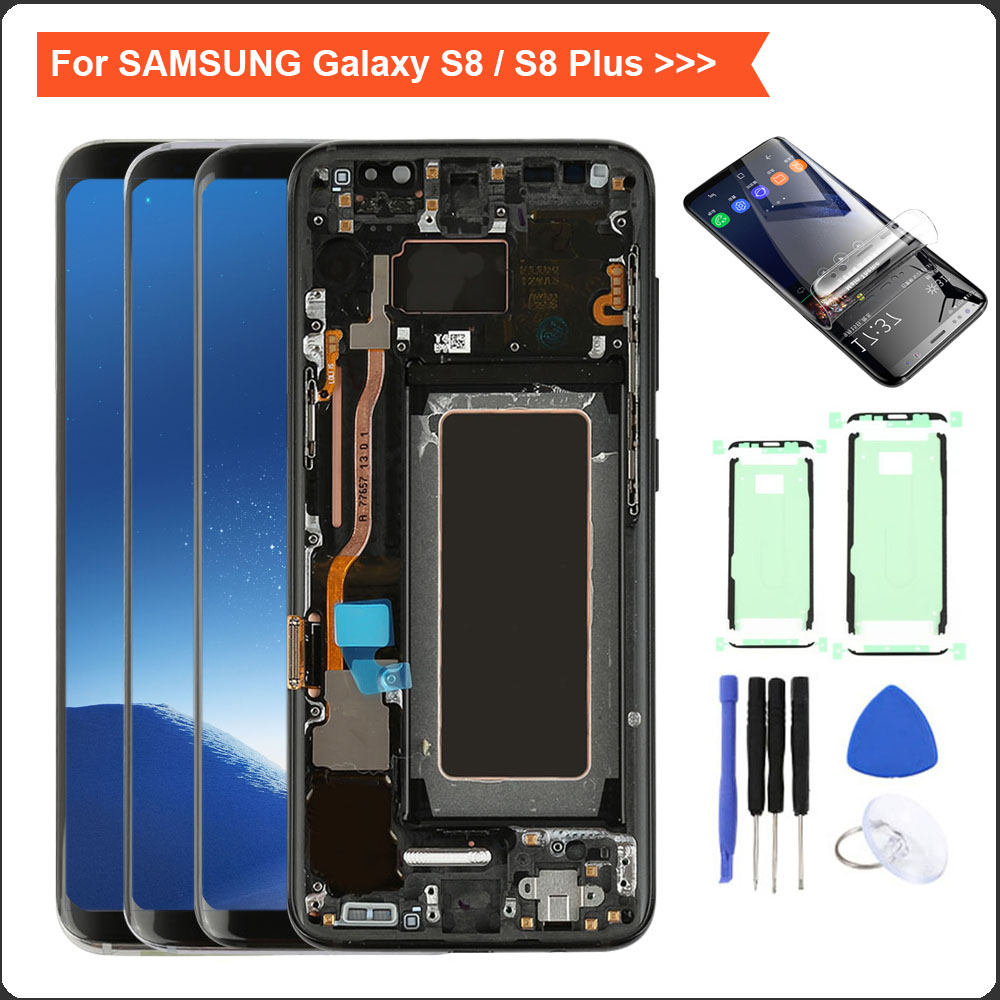 S8 Display For Samsung Galaxy S8 LCD G950F G950FD Display Touch Screen Digitizer for S8 plus G955f Display For Samsung S8 LCD