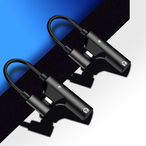 Image 2 - 2 in 1 이어폰 유형 c ~ 3.5mm 어댑터 오디오 잭 헤드폰 케이블 동기화 충전 케이블 xiaomi huawei 용 usb type c 잭 aux