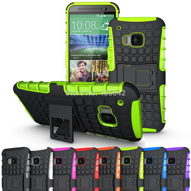 For Htc One M9 Heavy Duty Hybrid Rugged Case With Kickstand Shockproof Impact Protective Cover