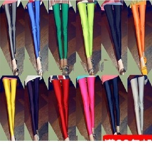 Free shipping Spring thin type fluorescent color leggings nine minutes of pants candy color show thin female slim pants