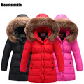 NEW 2016 Girls Thick Winter Coats Boys White Duck Down Parkas 3-12Y Children's Thermal Outerwear Kids Warm Clothes Outdoor SC643