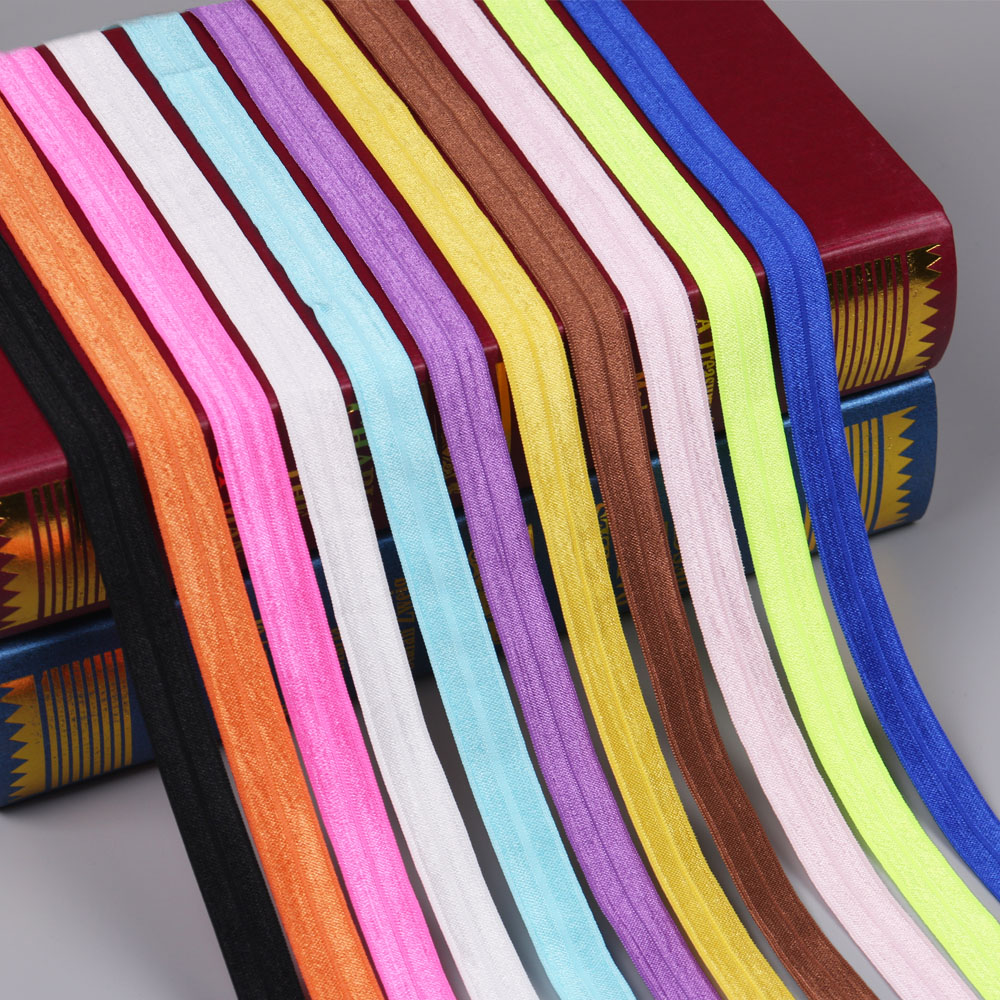 High quality elastic ribbon handmade band colorful 10 yards/lot 15mm width for...