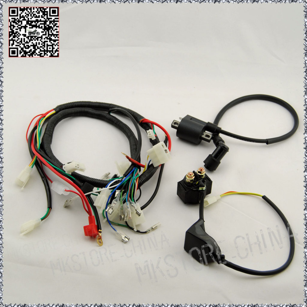 250CC+COIL WITH LEAD+SOLENOID QUAD WIRING HARNESS 200 250cc Chinese  Electric start Loncin zongshen ducar Lifan free shipping-in ATV Parts &  Accessories from ...