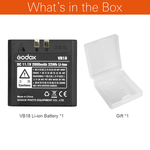 Image 2 - Godox V850 V860 スピードライトリチウムイオンバッテリーVB18 dc 11.1v 2000mah 22Whリチウムイオン