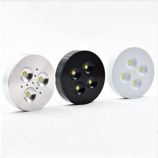 downlight levou dimmable 3 w 4 w dc12v cabitnet puck luz led recesso led lampada luz
