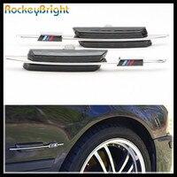 Rockeybright 자동차 신호 펜더 램프 BMW E46 선반 신호 E81 E60 E90 E46 2002-2005 LCI 안면 성형 4D/5D