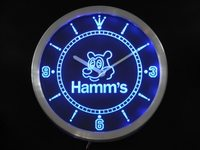 nc0129 Hamm's Bear Beer Bar Neon Sign LED Wall Clock