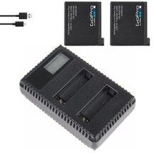 Batería Original para Gopro hero 4/USB LCD, cargador de batería Dual AHDBT 401, accesorios originales para cámara de batería, pez payaso