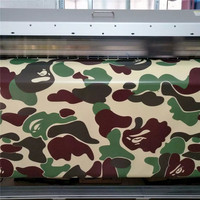 5/10/15/20/25/30X1.52M red grey green Camouflage Car Vinyl Wrap Sticker Camo camouflage film Bubble free