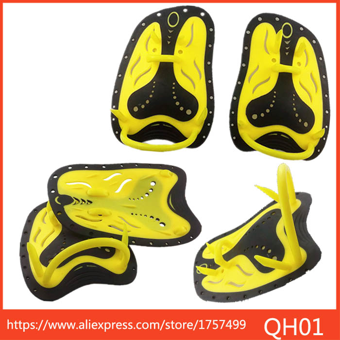 Adjustable Silicone Hand Swimming Trax Paddles Fins Flippers Webbed Training Pool Diving Gloves padel for Men Women Kids