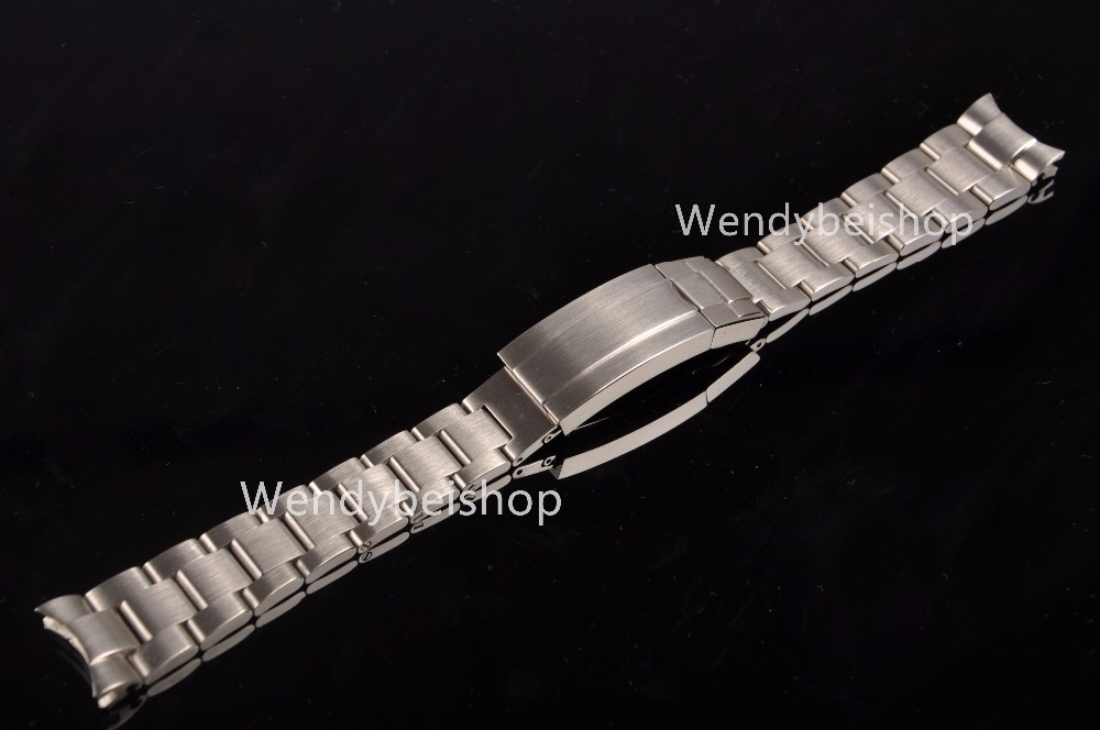 20 21mm Solid Curved End Stainless Steel Screw Links Wrist Watch Band Bracelet Strap Glide Flip Lock Deployment Clasp Buckle 20 21mm solid curved end stainless steel screw links wrist watch band bracelet strap glide flip lock deployment clasp buckle