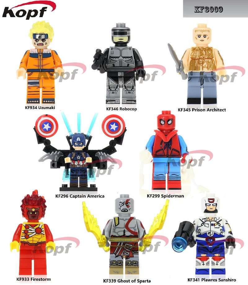 Building Blocks Single Sale Ghost of Sparta Plawres Sanshiro Prison Architect Captain America Super Heroes Toys for Kids KF8009 blackman haden sw darth vader ghost prison