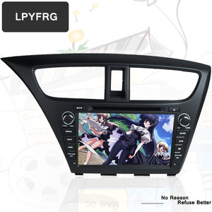 Android 8.1 car dvd player Head unit for Honda civic 2014 2015 gps radio BT tape recorder stereo systems in dashboard