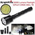 Высокое Качество XLightFire 30000 Люмен 12x CREE XML T6 5 Режим 18650 Super Bright LED Flashlight