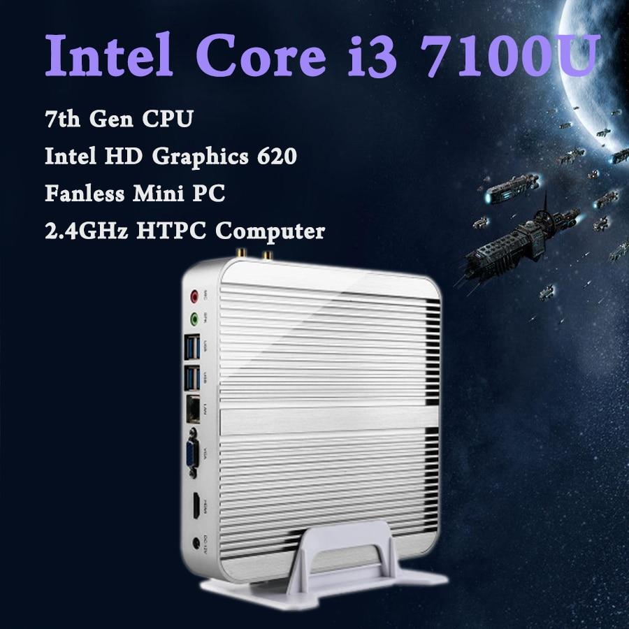 Mini PC Intel i3 7100U Kaby Lac Windows HDMI VGA Mini PC i3 i5 minipc 4