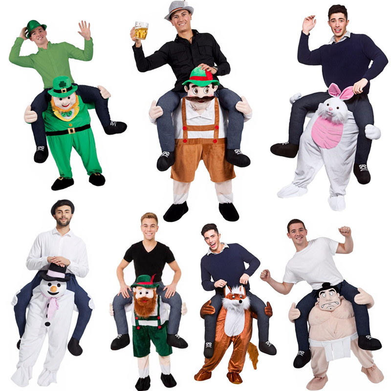 Ride On Me Mascot Costumes Back Funny Animal Pants Fancy