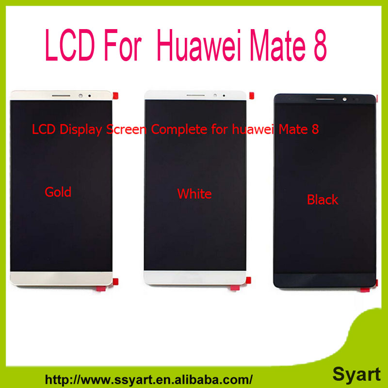 ФОТО Black White Gold 100% Genuine New LCD For Huawei Mate 8 LCD Display With Touch Screen Digitizer Assembly Replacement
