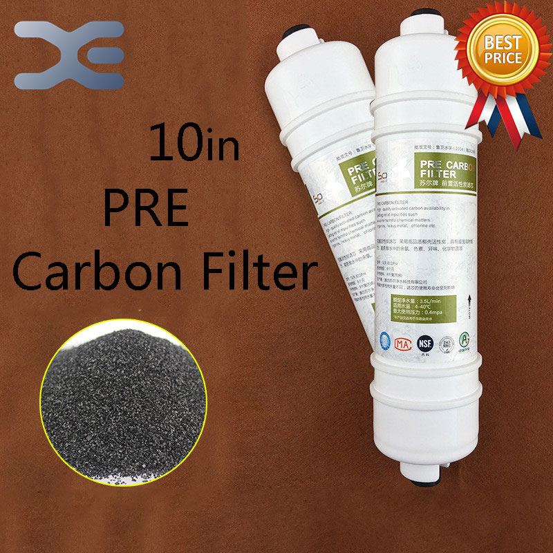все цены на High Quality 10in One Fast Access Front UDF Activated Carbon Filter Household Water Purifier Filter Universal Water Filter Parts онлайн