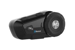 Image 2 - Bluetooth гарнитура для шлема, мотоциклетная гарнитура Mornystar M3 Plus, многофункциональные стереонаушники для двухсторонней серии Raido Easy Rider