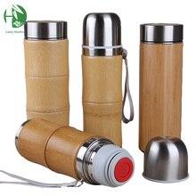 Edelstahl thermosflaschen für wasser abdeckung für isolierte tassen thermische topf becher wasser kaffee kolben tee bambus reisebecher