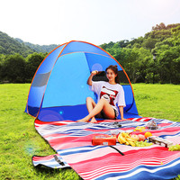 Automatic Camping Tent Ship From RU Beach Tent 2 4 Persons Tent Instant Pop Up Open Anti UV Awning Tents Outdoor Sunshelter