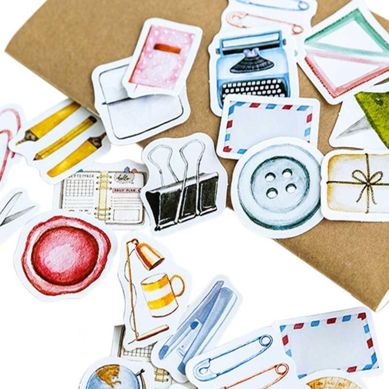46 unidades/pacote mulifunction etiqueta do caderno etiqueta diy diário telefone parede decoração adesivos scrapbooking kawaii bonito etiqueta da etiqueta