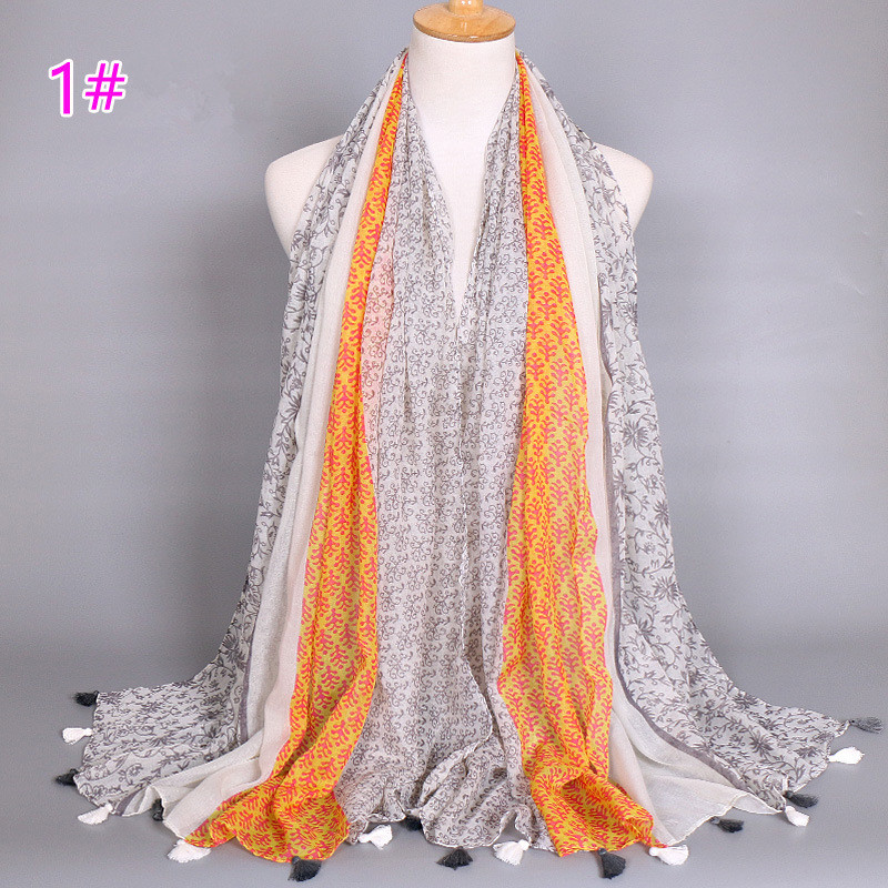 New Fashion Women Tassels Soft Chiffon   Scarf     Wrap   Shawl   Scarves   Stole