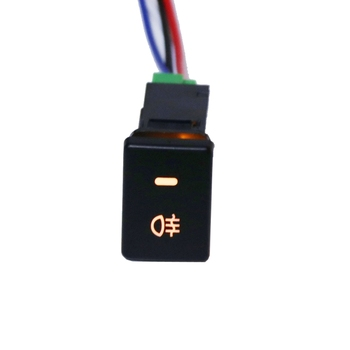 DC12V Rear Fog light Push Switch 4 Wire Button For Toyota Camry Prius Corolla auto steering wheel audio control button switch for toyota hilux vigo corolla camry highlander innova