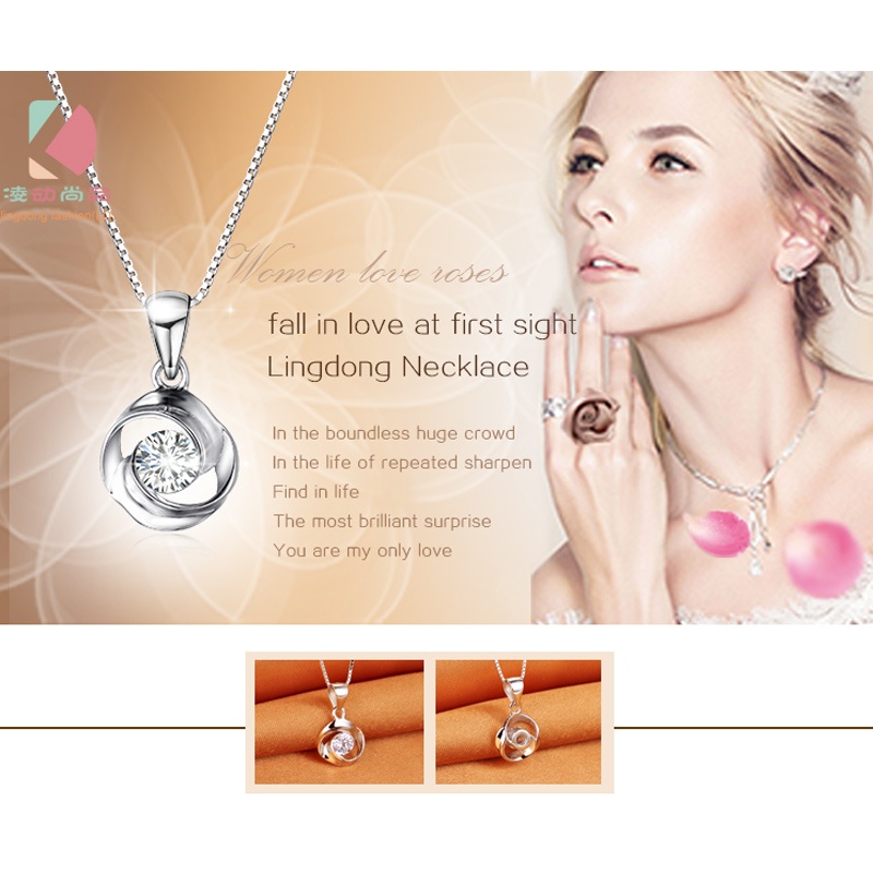 circle of love series promise of love necklace fashion exquisite gift - Fine Jewelry - Photo 5