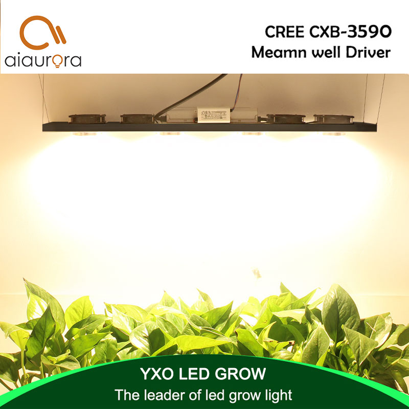 Dimmable CREE CXB3590 400W COB LED Grow Light Full Spectrum 45000LM = HPS 600W Growing Lamp Indoor Plant Growth Lighting Panel ...