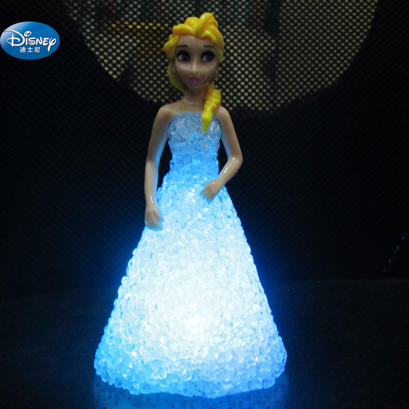 Frozen Elsa  Action Princess Crystal Doll With LED Light  Girl Anna Toy Figures