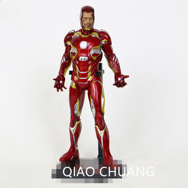 12 Iron Man Avengers: Infinity War Crazy Toys Tony Mark XLV MK45 Captain America PVC figurine daction Collection jouet L141112 Iron Man Avengers: Infinity War Crazy Toys Tony Mark XLV MK45 Captain America PVC figurine daction Collection jouet L1411