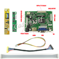 HDMI VGA 2AV Controller Board + Backlight Inverter + 30Pins Lvds Cable Kits for LP171WP4 LTN170X2 1440x900 2ch 6 bit LCD Panel
