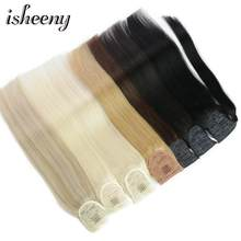 "Isheeny Brazilian Human Hair Remy Ponytail Extensions Straight 14"" 18"" 22"" Clip In Human Hair Extensions(China)"